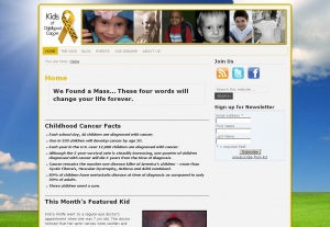 Kids of Childhood Cancer kidsofchildhoodcancer.org New Website
